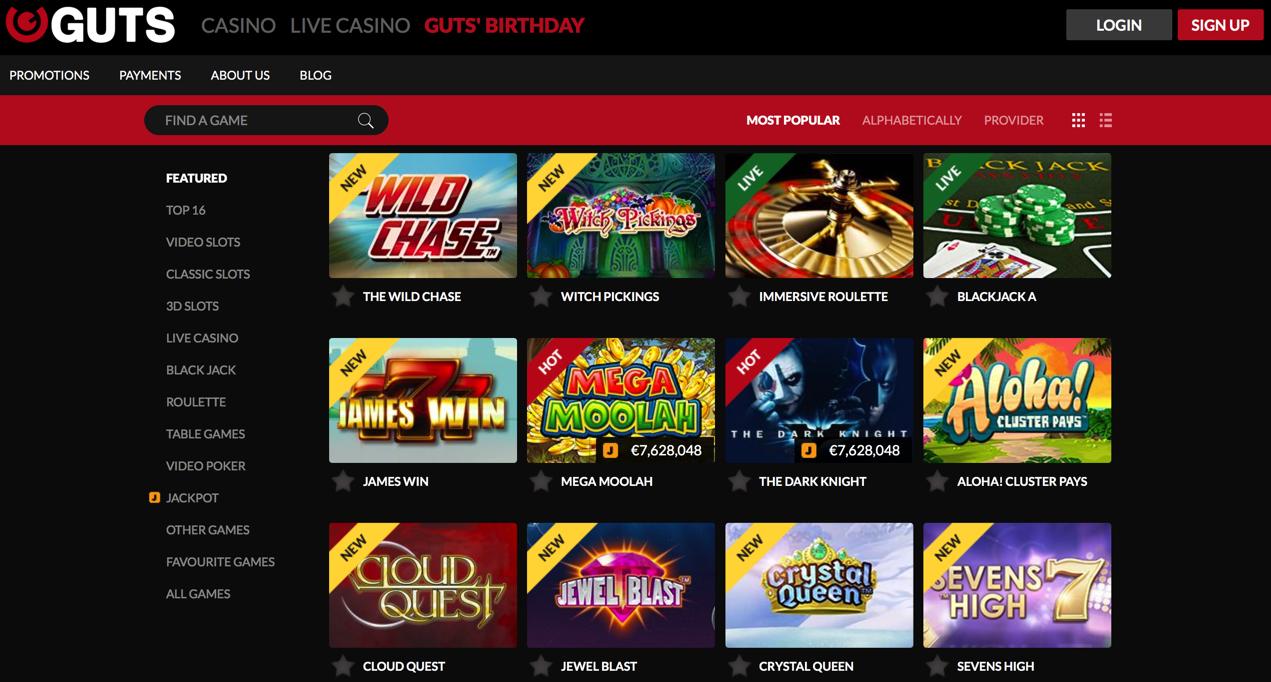 Guts Casino Canada